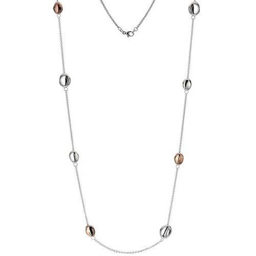 Silver & Rose Globule Necklace